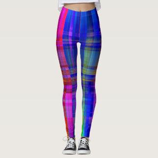Colorful Plaid Design Leggings