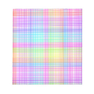Colorful Plaid Pattern Notepad