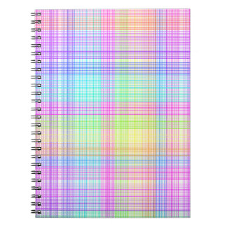 Colorful Plaid Pattern Spiral Notebooks