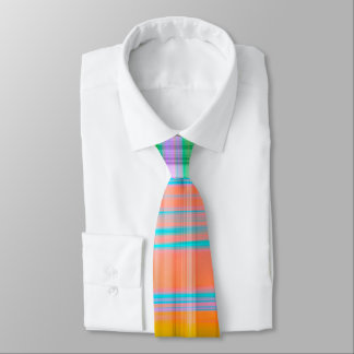 Colorful Plaid Stripe Tie