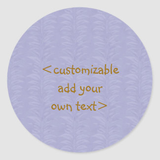 Colorful Plain Patterns - Customize own text Round Sticker