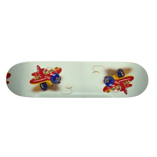 Colorful plane toy for kids skate board deck