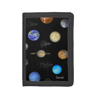 Colorful Planets Custom Wallet