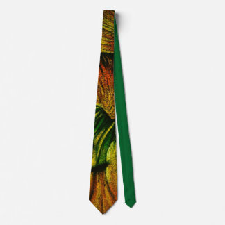 colorful plant design original abstract quirky art tie