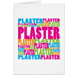 Colorful Plaster Greeting Card