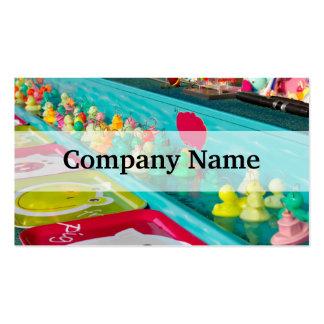 Colorful Plastic Fair Ducks Game Business Cards