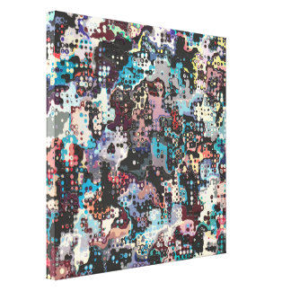 Colorful Plastics Abstract Stretched Canvas Prints