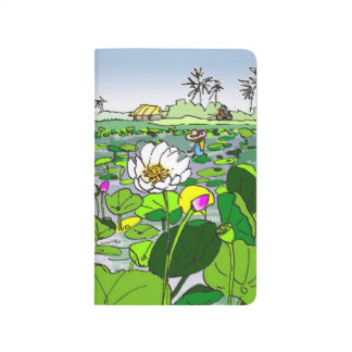 Colorful Pocket notebook Lotus fields