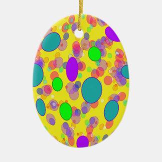 colorful pokka dots christmas ornament