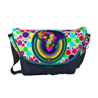 Colorful Polka Dot African Monogram Messenger Bag