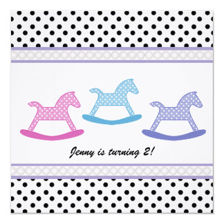 Colorful Polka Dot : Carousel Party Invitation