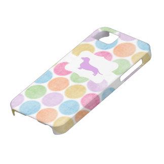 Colorful Polka Dot Dachshund case