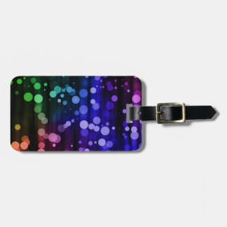 Colorful Polka Dot Luggage Tag