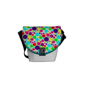 Colorful Polka Dot Mini-Messenger Bag Courier Bag
