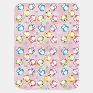 Colorful Polka dot owl pattern Receiving Blanket