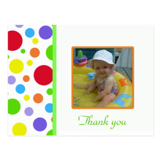 Colorful Polka-dot: Picture: Thank You Card