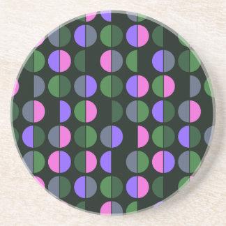 Colorful Polka Dot Seamless Pattern Beverage Coasters