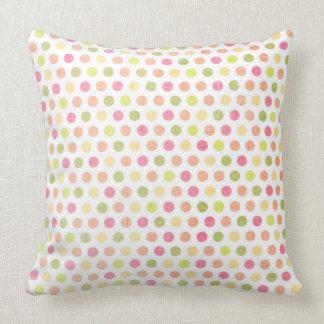 Colorful Polka Dot Throw Pillow
