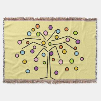 Colorful Polka Dot Tree Throw Blanket