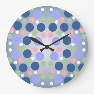 Colorful Polka Dot Wall Clock
