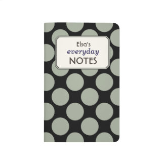 Colorful Polka Dots any Color Custom Text Label Journal