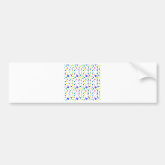 COLORFUL POLKA DOTS BUMPER STICKER
