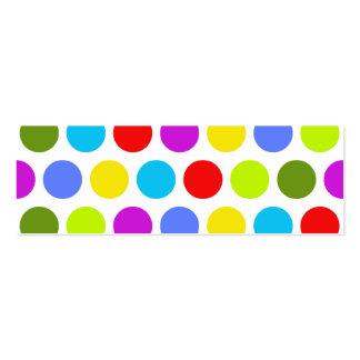Red polka dot business cards red polka dot business card for Polka dot business card templates free
