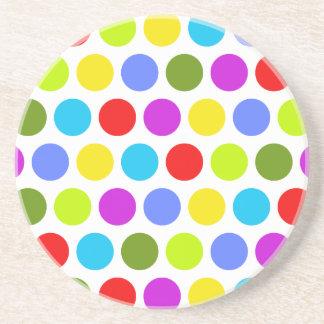 Colorful Polka Dots Drink Coaster