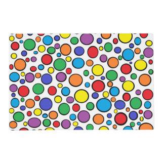 Colorful Polka Dots Laminated Placemat