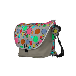 Colorful Polka Dots Pattern Fun Messenger Bag