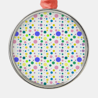 COLORFUL POLKA DOTS Silver-Colored ROUND DECORATION