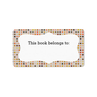"Colorful Polka Dots ""This Book Belongs To"" Labels"