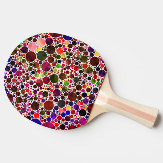 Colorful Polkadot Bling Ping Pong Paddle