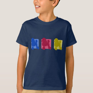 Colorful Poodle Silhouettes T-Shirt
