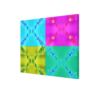 Colorful pop art abstract gallery wrap canvas