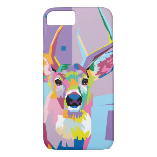 Colorful Pop Art Deer Portrait iPhone 8/7 Case
