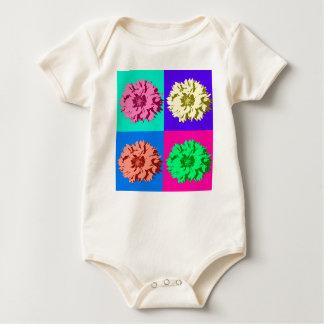 Colorful Pop Art Flowers Baby Bodysuit