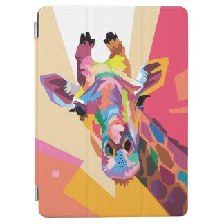 Colorful Pop Art Giraffe Portrait iPad Air Cover