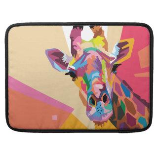 Colorful Pop Art Giraffe Portrait Sleeve For MacBooks