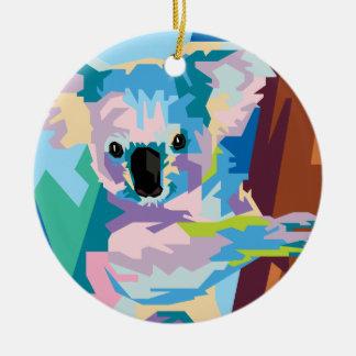 Colorful Pop Art Koala Portrait Christmas Ornament