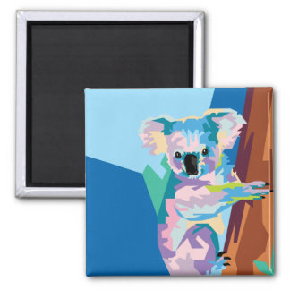 Colorful Pop Art Koala Portrait Magnet