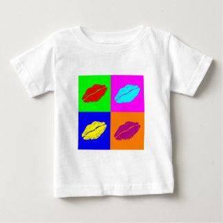 Colorful pop art lipstick kiss baby shirt
