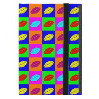 Colorful pop art lipstick kiss cover for iPad mini