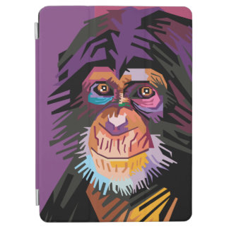 Colorful Pop Art Monkey Portrait iPad Air Cover