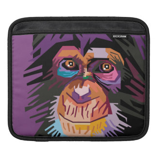 Colorful Pop Art Monkey Portrait iPad Sleeve