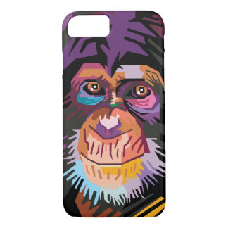 Colorful Pop Art Monkey Portrait iPhone 8/7 Case