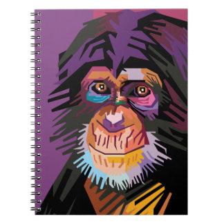 Colorful Pop Art Monkey Portrait Notebook