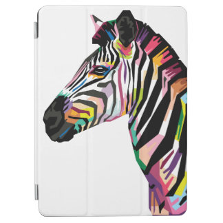Colorful Pop Art Zebra on White Background iPad Air Cover