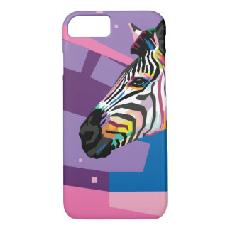 Colorful Pop Art Zebra Portrait iPhone 8/7 Case