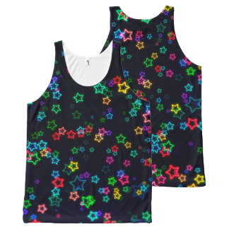Colorful Pop Neon Star All-Over Print Tank Top